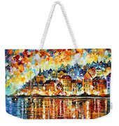 Italy Harbor Weekender Tote Bag
