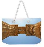 Italy, Sicily - Segesta Temple Detail Weekender Tote Bag