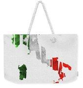 Italy Typographic Map Flag Weekender Tote Bag