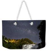 Ithaca Falls By Moonlight Weekender Tote Bag