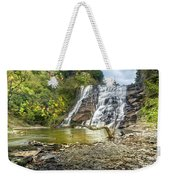 Ithaca Falls In Early Autumn Weekender Tote Bag