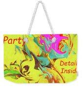 It's A Party Abstract Weekender Tote Bag