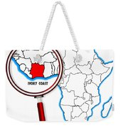 Ivory Coast Under A Magnifying Glass Weekender Tote Bag