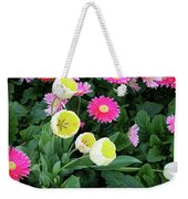 Ivory Tulips And Salmon Daisys Weekender Tote Bag