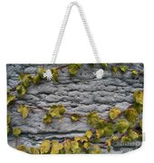 Ivy And Ancient Wall In Old Montreal Hd Photography Weekender Tote Bag