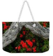 Ivy Geraniums And Log Weekender Tote Bag