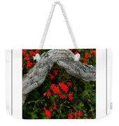 Ivy Geraniums And Log Poster Weekender Tote Bag
