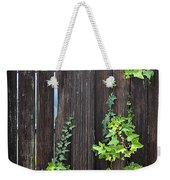 Ivy On Fence Weekender Tote Bag