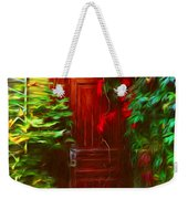 Ivy Surrounded Old Outhouse Weekender Tote Bag