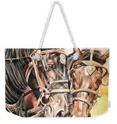 Jack And Joe Hard Workin Horses Weekender Tote Bag