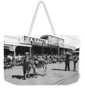 Jack Hendrickson With Pet Burro Number 2 Helldorado Days Parade Tombstone Arizona 1980 Weekender Tote Bag