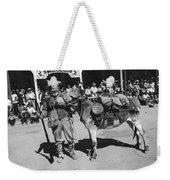 Jack Hendrickson With Pet Burro Number 3 Helldorado Days Parade Tombstone Arizona 1980 Weekender Tote Bag