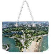 Jackson Park In Chicago Aerial Photo Weekender Tote Bag