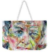 Jackson Pollock - Watercolor Portrait.3 Weekender Tote Bag
