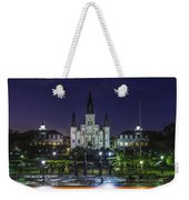 Jackson Square And St. Louis Cathedral At Dawn, New Orleans, Louisiana Weekender Tote Bag