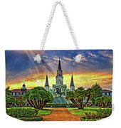 Jackson Square Evening Rays Weekender Tote Bag