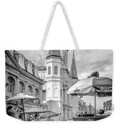 Jackson Square Scene New Orleans - Bw  Weekender Tote Bag