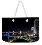 Jacksonville Fl At Night Weekender Tote Bag