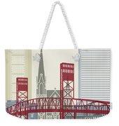Jacksonville Skyline Poster Weekender Tote Bag