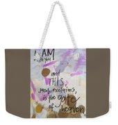 Jacob's Proclamation Weekender Tote Bag