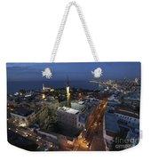 Jaffa At Night Aerial View Weekender Tote Bag