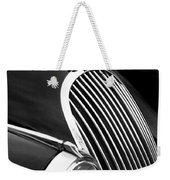 Jaguar Grille Black And White Weekender Tote Bag