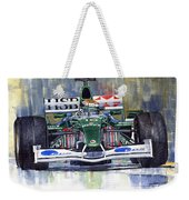 Jaguar R3 Cosworth F1 2002 Eddie Irvine Weekender Tote Bag
