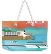 Jamaica Horizontal Scene Weekender Tote Bag