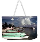 Jamaican Fishing Boats Weekender Tote Bag