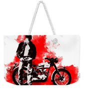 James Dean And Triumph Weekender Tote Bag