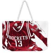 James Harden Houston Rockets Pixel Art 3 Weekender Tote Bag