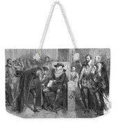 James I Appoints Bacon Lord Chancellor Weekender Tote Bag