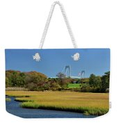 Jamestown Marsh With Pell Bridge Weekender Tote Bag