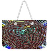 Janca Abstract Ovoid Panel 9646w9a Weekender Tote Bag