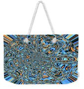 Janca Abstract With Blue 9646w3 Weekender Tote Bag
