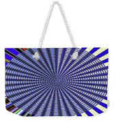 Janca Blue Oval Abstract 9646w11 Weekender Tote Bag