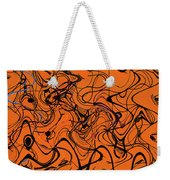 Janca Red Power Tower Abstract Weekender Tote Bag
