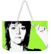 Jane Fonda Mug Shot - Lime Weekender Tote Bag
