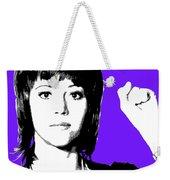 Jane Fonda Mug Shot - Purple Weekender Tote Bag