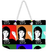 Jane Fonda Mug Shot X9 Weekender Tote Bag