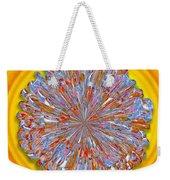 Janet -- Floral Disk Weekender Tote Bag