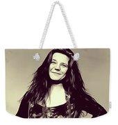 Janis Joplin, Music Legend Weekender Tote Bag