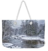 January Snow On The River Weekender Tote Bag