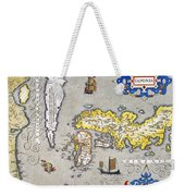 Japan: Map, 1606 Weekender Tote Bag