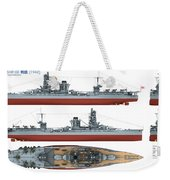 Japanese Battleship Ise Weekender Tote Bag