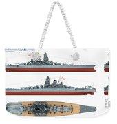 Japanese Battleship Yamato Weekender Tote Bag