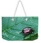 Japanese Beetle Weekender Tote Bag