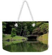 Japanese Garden Bridge Reflection Weekender Tote Bag