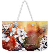 Japanese Cherry Blossom Abstract Flowers Weekender Tote Bag