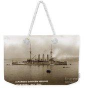 Japanese Cruiser Izumo In Monterey Bay December 1913 Weekender Tote Bag